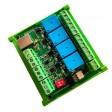 USB 4 Channel Relay Board-DIN rail