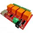 USB 4 Channel Relay Board-FT245RL