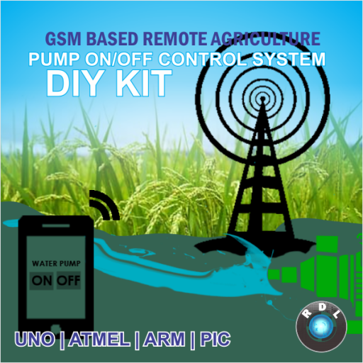 DIY GSM Based Remote Agriculture Pump ON/OFF Control System kit- PIC