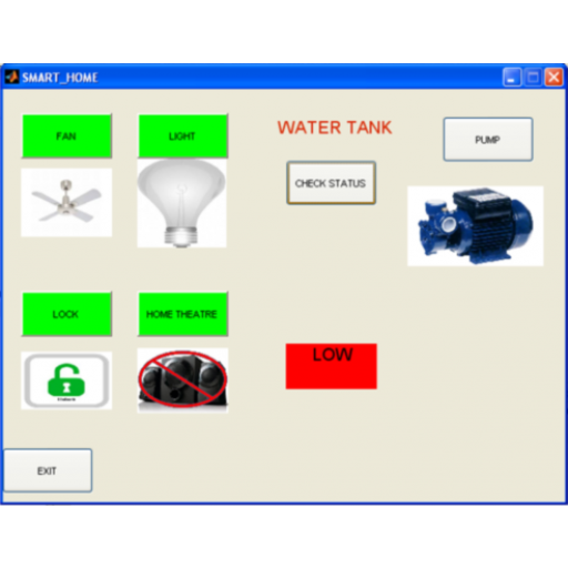 Smart Home Using Matlab Gui