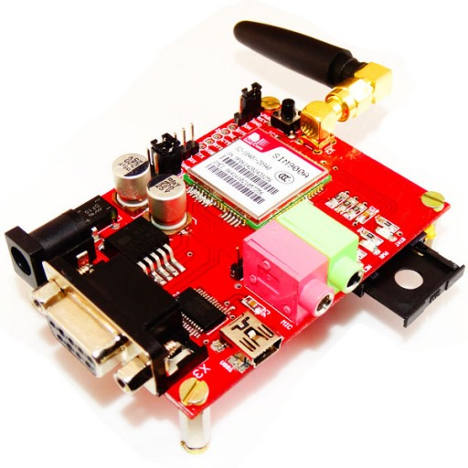 GSM GPRS SIM900A module with Stub Antenna and SMA connector-USB