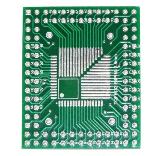 5x QFP TQFP LQFP FQFP 32//44//64//80//100 zu DIP Adapter PCB Board Convert  lu