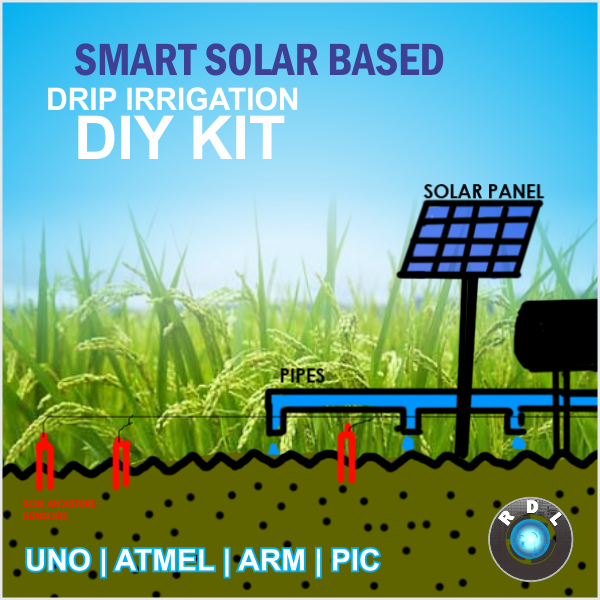 Smart Solar Based Drip Irrigation Atmel Diy