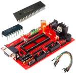 PIC Project Board With PIC16F877A IC
