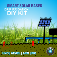 DIY Smart Solar Based Drip Irrigation-UNO Atmega328