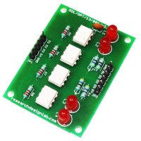 4 Channel Opto-Isolated Board Input 12V to 5V