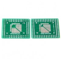 2Pcs of QFP/TQFP/LQFP/FQFP 32/44/64/80/100 to DIP Adapter PCB Board Converter