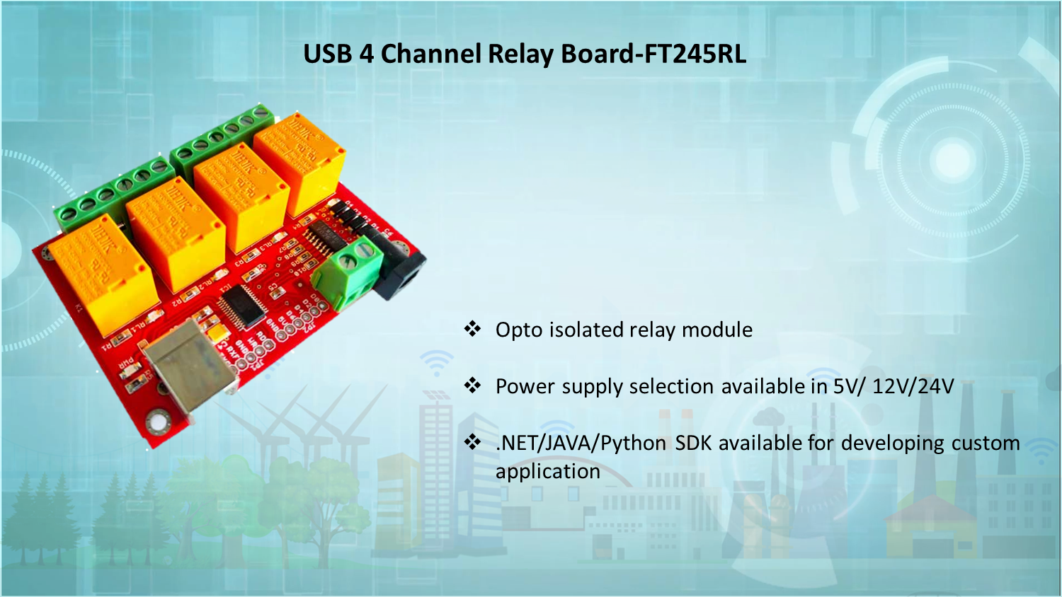 USB 4 CHANNEL RELAY