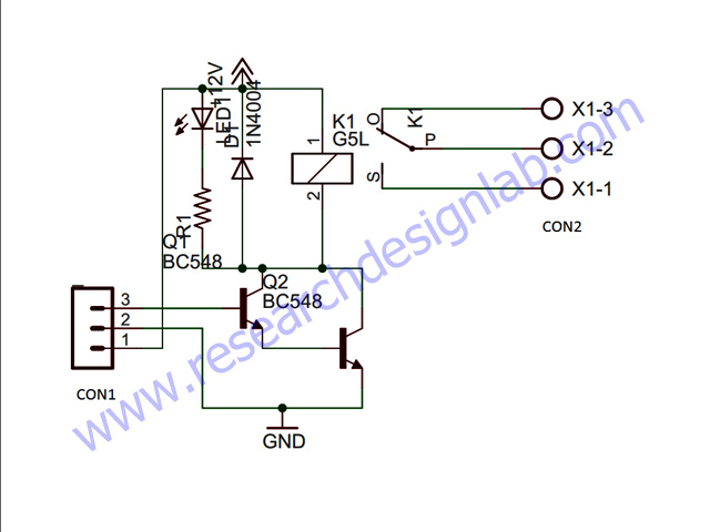 single relay board pcb rh researchdesignlab com Latching Relay Circuit Diagram Relay Circuit Symbol