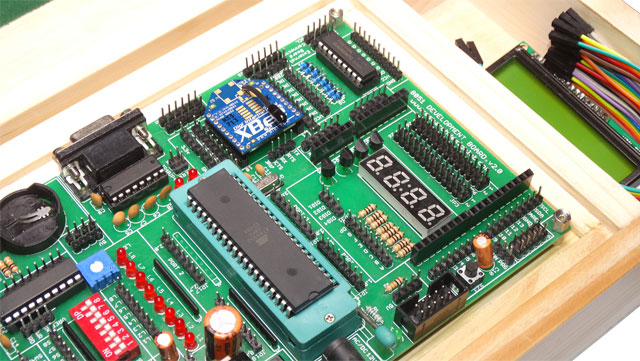8051 At89s52 Atmel Development Board Trainer Kit 8051
