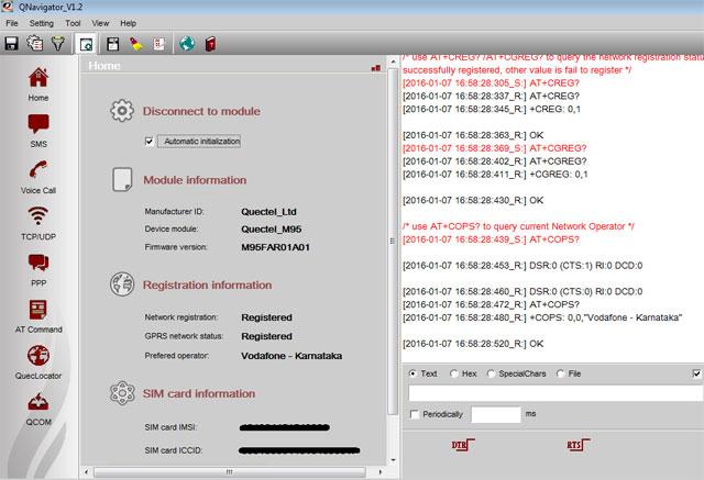 GSM GPRS M95 QUECTEL Modem- Arduino Compatible