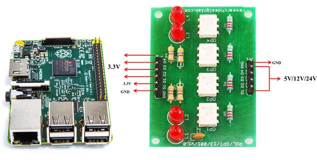 Rdl Opto Isolated Board Raspberry Pi on Opto Isolator I O