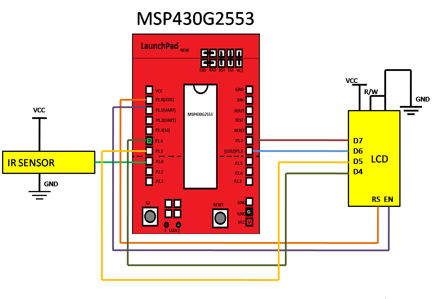 IR Obstacle Sensor Interfacing with MSP430